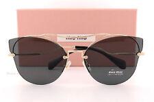 Brand New Miu Miu Sunglasses MU 52SS ZVN 1A1 Gold Black/Gray For Women