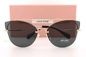 3f993f0e44f Brand New Miu Miu Sunglasses MU 52SS ZVN 1A1 Gold Black Gray For ...
