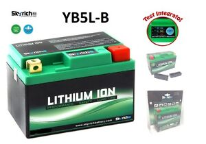 SKYRICH BATTERIA LITIO YB5L-B BATTERY LITHIUM PEUGEOT LUDIX 125 AMBITION 2004-05