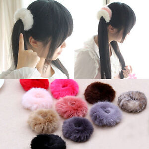 1PC-Fluffy-Fur-Elastic-Hair-Band-Womens-Girls-Pom-Scrunchie-Hair-Accessories