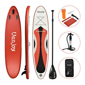 11-039-Inflatable-SUP-Stand-up-Paddle-Board-Surfboard-Adjustable-Fin-Paddle-Red