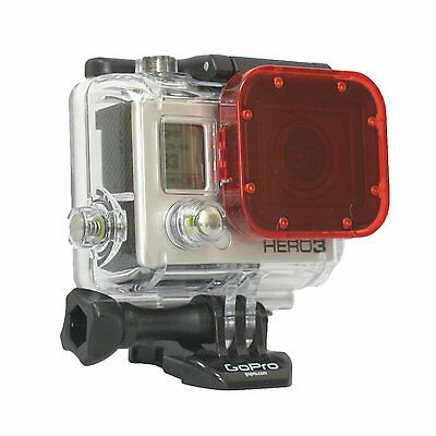 GoPro Hero3 Red Dive Filter-Snap On Accessory GoPro Hero3 White Silver Black NEW