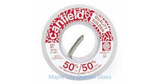 Stained Glass Canfield 50//50 Solder  1 lb.Spool Premium Solder Made in USA