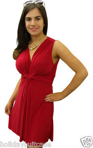 NEW-LADIES-WOMANS-EVENING-SEXY-SUMMER-HOLIDAY-PARTY-KNOT-TOP-TUNIC-MINI-DRESS