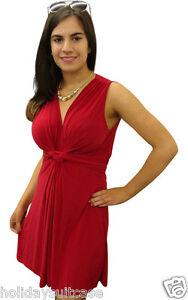 Plus-size-8-26-UK-Ladies-womans-summer-evening-knot-tunic-top-mini-tea-dress