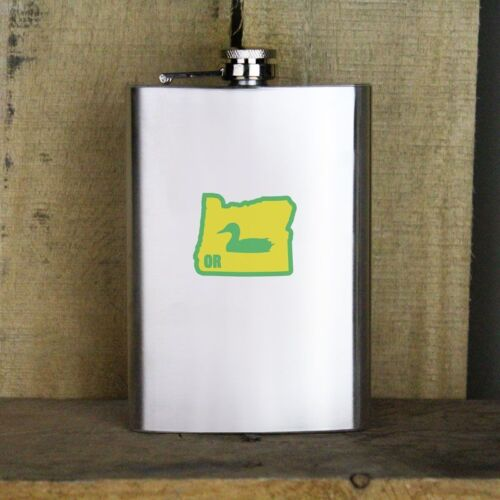 Original I Duck Oregon 8 oz Stainless Steel Flask