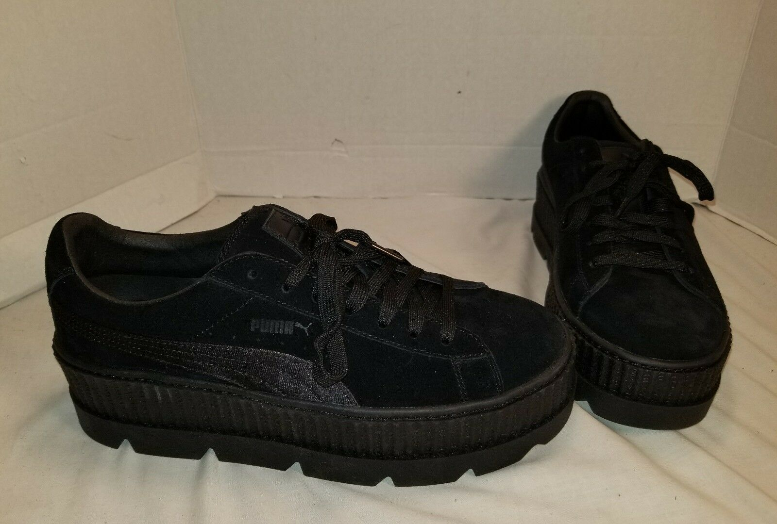 NEW PUMA FENTY BY RIHANNA CLEATED CREEPER Noir SUEDE Homme SNEAKERS US