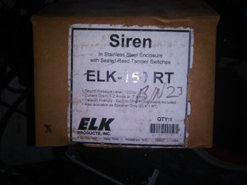 Elk ELK-150RT Siren /& Stainless Steel Enclosure