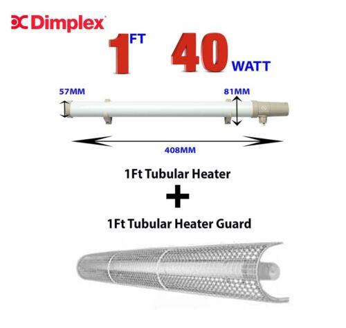 Sunhouse 1ft Tubular Heater /& 1ft Guard Shield inc Thermostat 1.5m Cord /& Plug