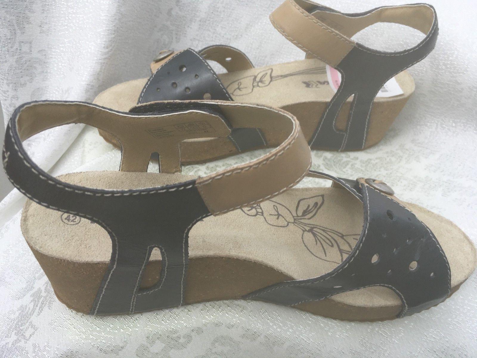 Romika Femme Florida 05 Synthétique Compensé sandaeu teint plage bleu Taille 11 M 42