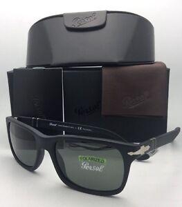 dac1bd5929 Polarized PERSOL Sunglasses 3048-S 9000 58 58-19 Matte Black Frame w ...