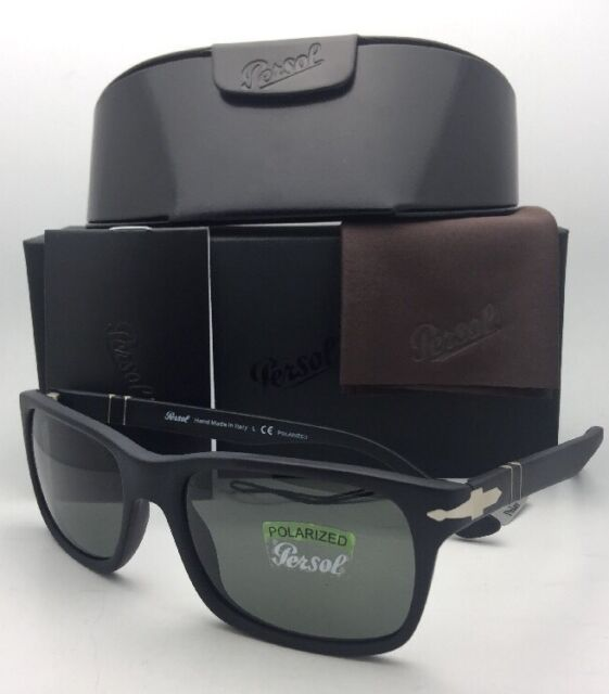 6f35e45f3f7 Preowned Persol 3048s 9000 58 Sunglasses Matte Black for sale online ...
