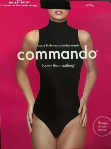 NEW Commando Ballet Body Mockneck Sleeveless Bodysuit Thong One Size KT015