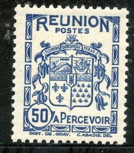 Importé De L'éTranger Timbres Colonies Francaises / La Reunion / Blason / Armoirie / Taxe N° 21 ** Ferme En Structure