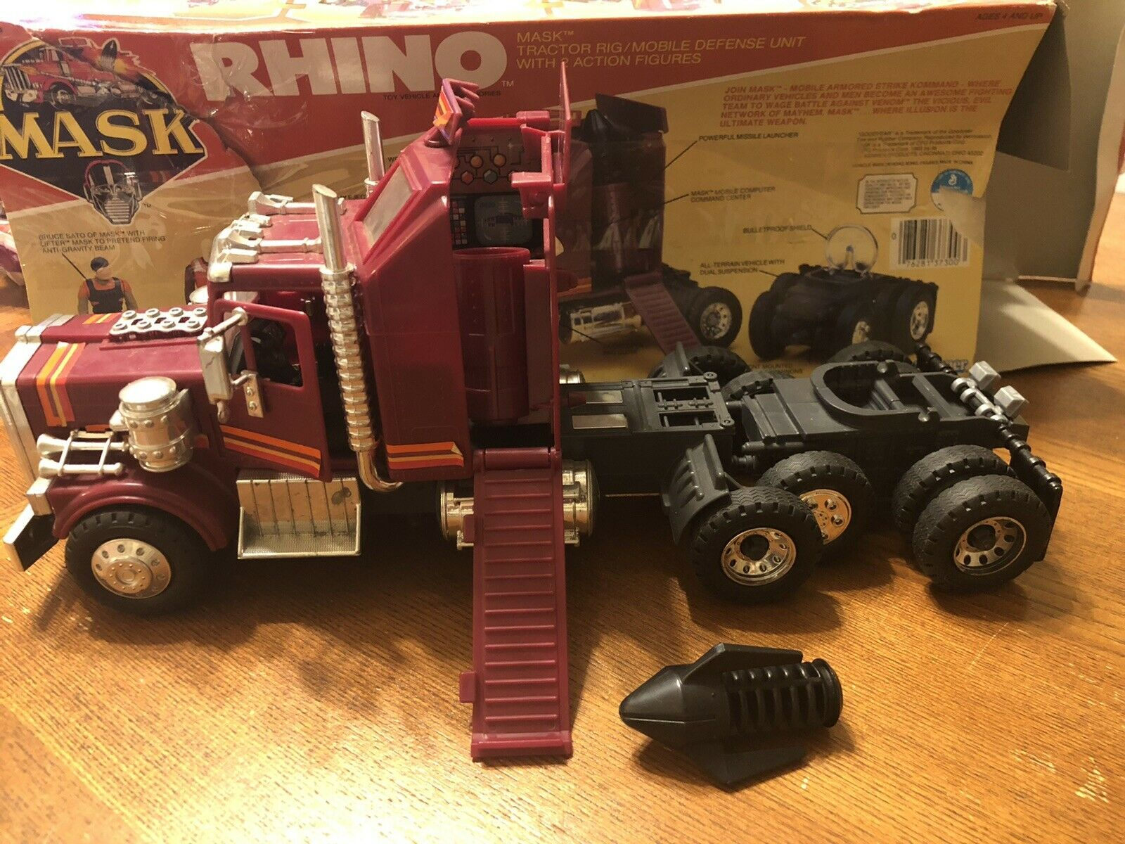 M.A.S.K. MASK RHINO Kenner legetøjs Tractor Rig Mobile Defense Unit W/ Box
