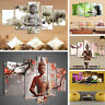 5Pcs/lot Abstract Buddha Canvas Wall Art Painted Picture Oil Painting Home Decor