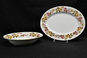 Coalport-Rosalinda-Serving-Platter-amp-Oval-Vegetable-Bowl