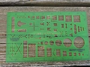 Staedtler Combo Circle Template 977-110 & Military Symbols Stencil T ...