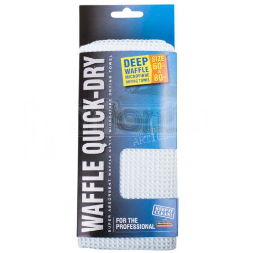 Súper Absorbente Microfibra Toalla de secado profundo Waffle 60 X 80 cm Paño Coche Hogar