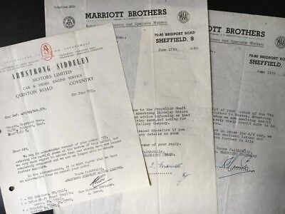 Other British Automobile Ads Advertising 1955 Armstrong Siddeley Letterhead Coventry Marriott Brothers Sheffield Attic