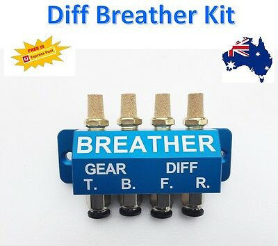 DIFF BREATHER KIT 4 POINT CNC BLOCK -  Toyota, Land Cruiser, Land Rover, Hilux