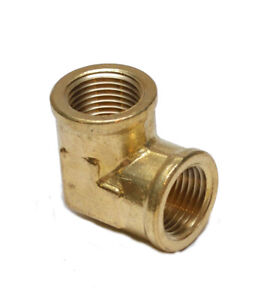 1/2 Npt Female 90 Degree Elbow Pipe Brass Fitting Vacuum Plumbing Water Oil Gas