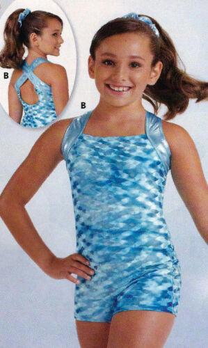 NWT Axis Gymnastic Dance Shorty Unitard Biketard Textured Velvet Girls Szs 81860