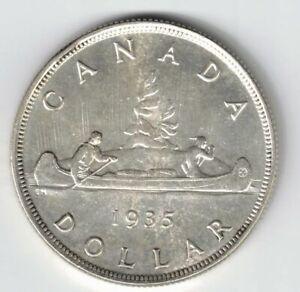 CANADA-1935-VOYAGEUR-SILVER-DOLLAR-KING-GEORGE-V-CANADIAN-SILVER-COIN