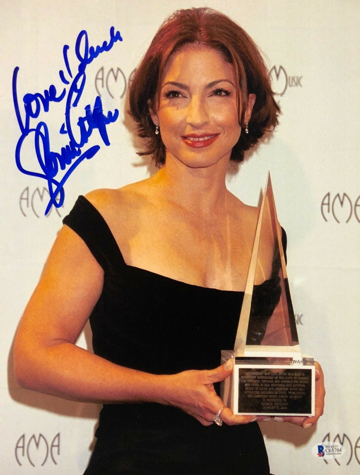 Gloria Estefan Signed 11x14 Photo *Model *Poseidon *Money Train Beckett C65704