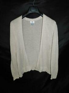 Old-Navy-L-Light-Brown-Cardigan-Sweater-Long-Sleeve-Open-Front-Lightweight-Knit