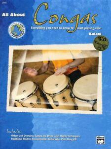 All About Congas Sheet Music Book/cdrom Apprendre à Jouer Méthode Kalani Premium-afficher Le Titre D'origine