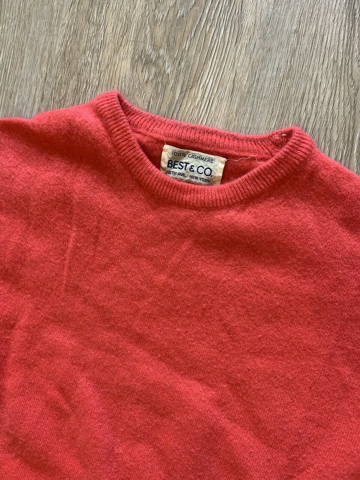 1950's Best & co Cashmere Pink Sweater Med/large … - image 6