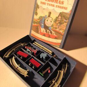 Artisan made doll house miniature toy 'Thomas the Tank' train set ~ 1:12