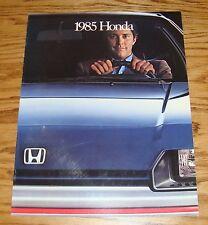 Original 1985 Honda Full Line Sales Brochure 85 Accord Civic Prelude