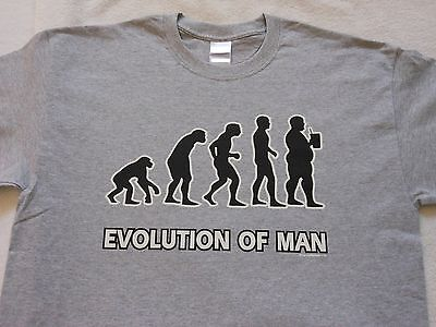 Evolution Of Man - Funny Ash Gray T-Shirt