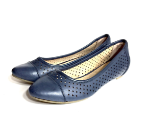 G.H. Bass Women's bluee Leather Ballet Flats Loafers Slip On shoes Size 6 M  yg