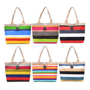 1-PC-Womens-large-Striped-l-039-epaule-d-039-ete-Shopper-cabas-sac-de-plage-de-to-BB