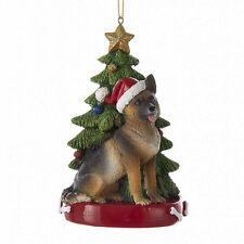 German Shepherd w/Tree Ornament