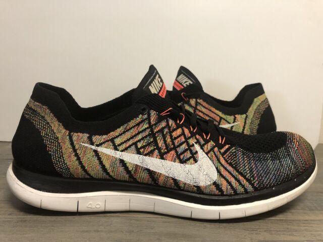 Nike 4 0 Flyknit Mens Running Shoes 10 Black Multi Color 717075 011 For Sale Online Ebay