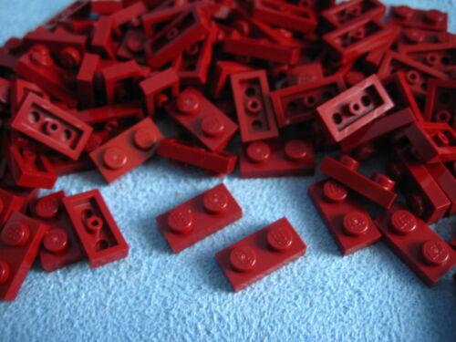 LEGO Bau- & Konstruktionsspielzeug 200 Stück Lego Platte Plättchen  1x2  2x1 dunkelrot dark red 3023 Neu LEGO Bausteine & Bauzubehör
