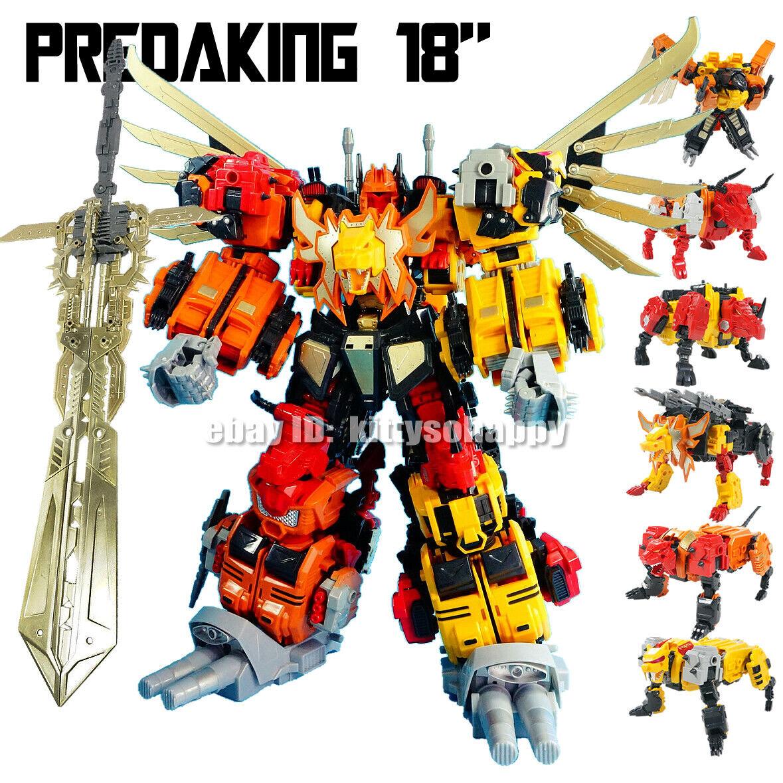 JINBAO ROBOT COMBINATORE G1 PRIME ProssoAre Stile cifra capolavoro Taglia Selvatici REX