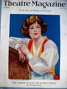 "* Wide Selection; Vintage July1926 ""theatre Magazine"" W/ Tessa Kosta Pictured On Cover n"