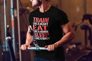 Motivational-Saying-Mens-Bodybuilding-Shirt-Workout-Gym-T-Shirt-Muscle-Fitness