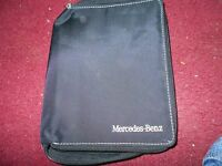 Mercedes-benz Deluxe Zippered Owners Manual Case W Mercedes Benz Lettering