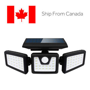 70 LED 3 Rotatable Head Waterproof Motion Sensor Wireless Solar Security Lights