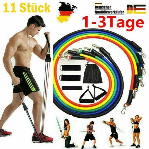 11er-Set Gymnastikband Fitnessband Widerstandsband Übungsband Fitnessbänder AAAA