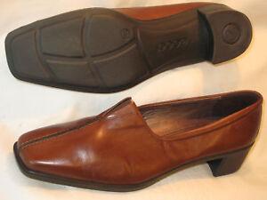 Details about Ecco Damen Slipper Formelle Schuhe Braun Leder Slipper Eu Sz 40 USA 9 9.5