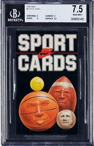 1985 Nike Promo Card #6 Title Card BGS NM+ 7.5