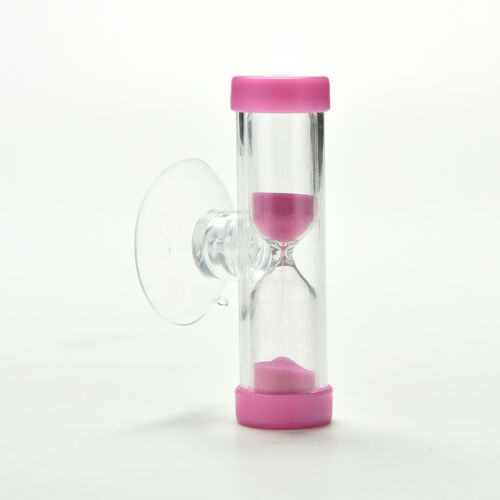 2X Mini Sandglass Hourglass Sand for Tooth Brush Shower Timer with Suction AGUK