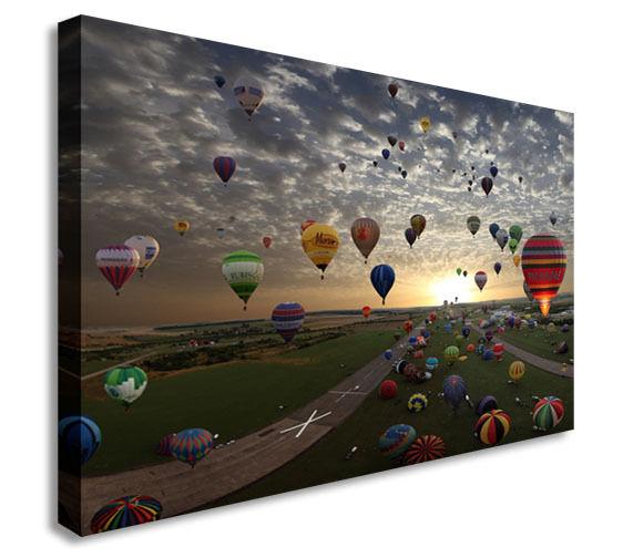 Balloon Hot Air Sunshine Wall Picture Canvas Art Cheap Print